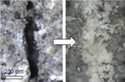 Superabsorbent polymers to seal and heal cracks in cementitious materials