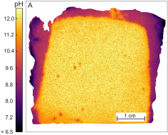 Wide-range optical pH imaging of cementitious materials exposed to chemically corrosive environments