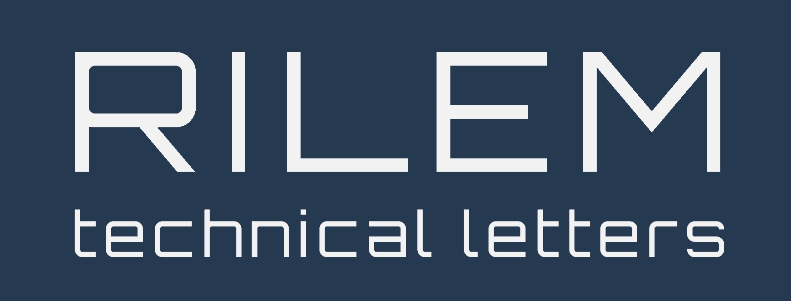 Logo of RILEM Technical Letters